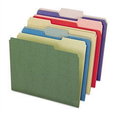 Earthwise Recycled File Folders, 1/3 Top Tab, Letter, Assorted Colors, 50/Box