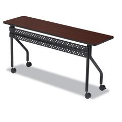 Iceberg OfficeWorks Mobile Training Table, Rectangular, 72w x 18d x 29h, Mahogany/Black