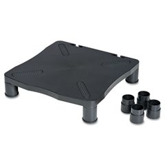 Monitor/Printer Stand,13 1/4 x 13 1/2 x 4, Black