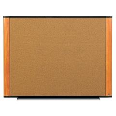 3M Cork Bulletin Board, 72 x 48, Aluminum Frame w/Light Cherry Wood Grained Finish