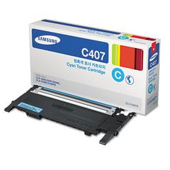 CLTC407S (CLT-C407S) Toner, 1,000 Page-Yield, Cyan