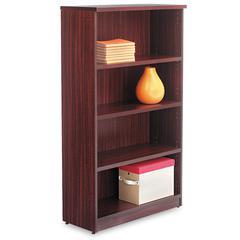 Alera Alera Valencia Series Bookcase, Four-Shelf, 31 3/4w x 14d x 55h, Mahogany