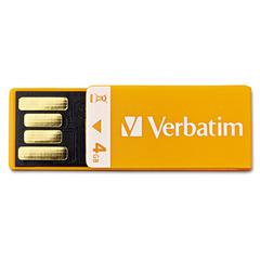 Clip-It USB 2.0 Flash Drive, 4GB, Orange