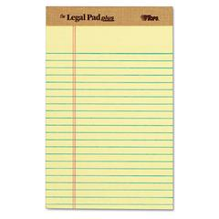 The Legal Pad Ruled Perforated Pads, Narrow, 5 x 8, Canary, Dozen