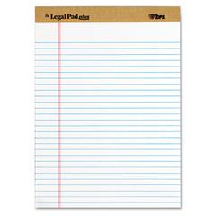 TOPS The Legal Pad Ruled Perforated Pads, Legal/Wide, 8 1/2 x 11 3/4, White, Dozen