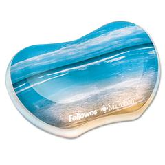 Fellowes Gel Wrist Rest, Photo, 4 7/8 x 3 7/16, Sandy Beach