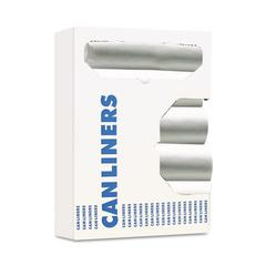 Hi-Density Can Liner, 40-45gal, 40 x 46, 11mic, Natural, 25 Bag/Roll, 10 Roll/CT