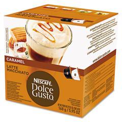 Coffee Capsules, Caramel Latte Macchiato, 1.93oz, 16/Box