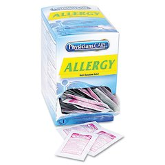 Allergy Antihistamine Medication, Two-Pack, 50 Packs/Box