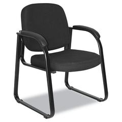 Alera Alera Reception Lounge Series Sled Base Guest Chair, Black Fabric