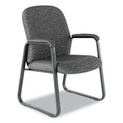 Genaro Series Guest Chair, Graphite Fabric, Sled Base