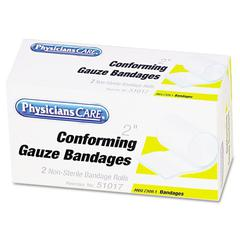 """PhysiciansCare by First Aid Only First Aid Conforming Gauze Bandage, 2"""" wide, 2 Rolls/Box"""