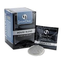 Java One Coffee Pods, House Blend, Single Cup, 14/Box