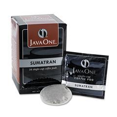 Java One Coffee Pods, Sumatra Mandheling, Single Cup, 14/Box