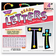 "Ready Letters Alpha-Beads Letter Combo Pack, Black,Multiple Colors, 4""h, 216/Set"