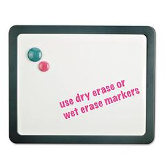 Recycled Cubicle Dry Erase Board, 15 7/8 x 12 7/8, Charcoal, with Three Magnets