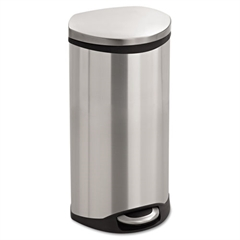 Safco Step-On Medical Receptacle, 7.5gal, Stainless Steel