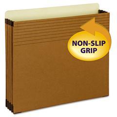 "Easy Grip File Pocket, Letter, 3 1/2"" Exp, Redrope, 25/PK"