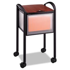 Safco Impromptu Locking File Cart, 20-1/4w x 21-1/2d x 30-3/4h, Black