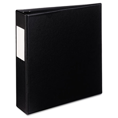 "Mini Durable Binder with Round Rings, 5 1/2 x 8 1/2, 2"" Capacity, Black"