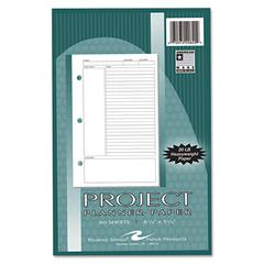 Project Planner Paper, 8 1/2 x 5 1/2, White, 80 Sheets