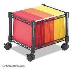 Mini Mobile Wire File Cart, Steel Wire, 15-1/2w x 14d x 12-1/2h, Black