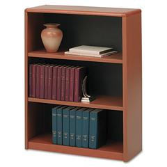 Safco Value Mate Series Metal Bookcase, Three-Shelf, 31-3/4w x 13-1/2d x 41h, Cherry