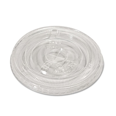 NatureHouse Compostable Cold Cup Lids, Flat, For 10, 12, 16oz Cups, Clear, 50/Pack
