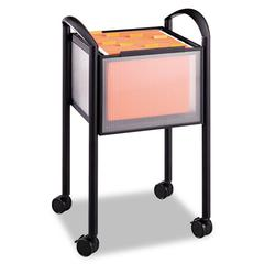 Safco Impromptu Open File Cart, 20-1/4 x 19 x 29-3/4, Black