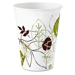 Dixie Pathways Paper Hot Cups, 8oz, 25/Bag, 20 Bags/Carton