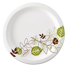 Dixie Pathways Soak-Proof Shield Paper Plates, 8 1/2, Grn/Burg, 125/Pk, 4 Pks/Ct