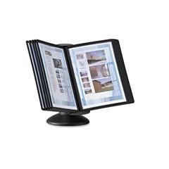 Durable SHERPA Motion Desk Reference System, 10 Panels, Black
