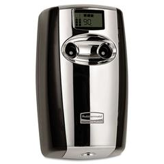 Rubbermaid Commercial Microburst Duet Odor Control System, 3 1/2w x 5 1/5d x 8 39/50h, Black/Chrome