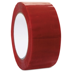 "Commercial Grd Color-Coding Packaging Tape, 1.88"" x 109.3yds, 3"" Core, Red"