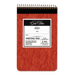 Gold Fibre Retro Wirebound Writing Pad, College/Medium, 5 x 8, Ivory, 80 Sheets