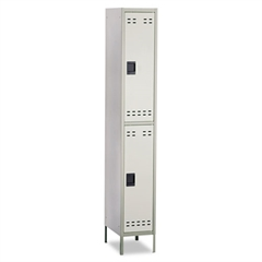 Safco Double-Tier Locker, 12w x 18d x 78h, Two-Tone Gray
