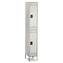 Double-Tier Locker, 12w x 18d x 78h, Two-Tone Gray