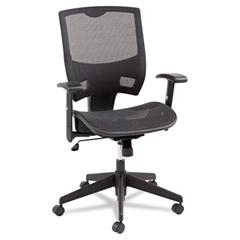 Alera Alera Epoch Series All Mesh Multifunction Mid-Back Chair, Black