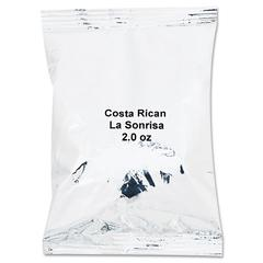 Coffee Portion Packs, Costa Rican La Sonrisa, 2oz Packets, 40/Carton