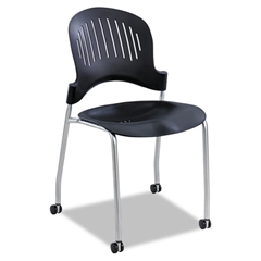 Safco Zippi Plastic Stack Chair, 21-1/2w x 18-3/4d x 33-1/2h, Black