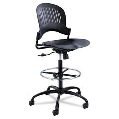 Safco Zippi Plastic Extended-Height Chair, Black