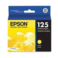 Epson T125420 (125) DURABrite Ultra Ink, Yellow