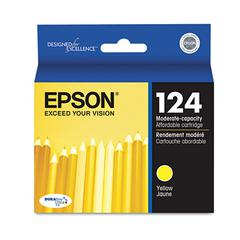 Epson T124420 (124) DURABrite Ultra Ink, Yellow