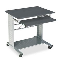 Mayline Empire Mobile PC Cart, 29-3/4w x 23-1/2d x 29-3/4h, Anthracite