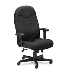 Comfort Series Executive High-Back Chair, Black Fabric