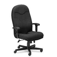 Mayline Comfort Series Executive High-Back Chair, Black Fabric