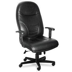 Mayline Comfort Series Executive High-Back Chair, Black Leather