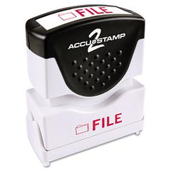 ACCUSTAMP Pre-Inked Shutter Stamp with Microban, Red, FILE, 5/8 x 1/2