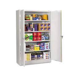 Assembled Jumbo Steel Storage Cabinet, 48w x 24d x 78h, Light Gray