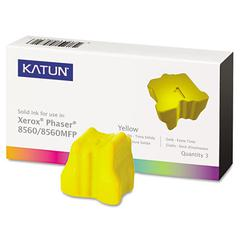 Katun 37993 Compatible 108R00725 Solid Ink Stick, Yellow, 3/BX